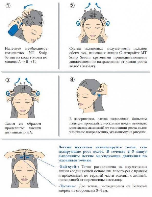 точечный массаж головы с